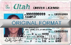 Utah Fake ID Template Small