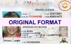 MISSOURI FAKE IDS SCANNABLE FAKE MISSOURI ID WITH HOLOGRAMS