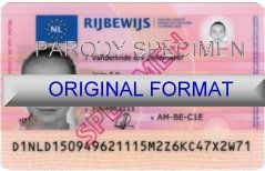NETHERLANDS  DRIVER LICENSE ORIGINAL FORMAT, DESIGN SPECIFICATIONS, NOVELTY SECURITY CARD PROFILES, IDENTITY, NEW SOFTWARE ID SOFTWARE NETHERLANDS  driver