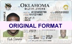 OKLAHOMA DRIVER LICENSE ORIGINAL FORMAT, DESIGN SPECIFICATIONS, NOVELTY SECURITY CARD PROFILES, IDENTITY, NEW SOFTWARE ID SOFTWARE OKLAHOMA driver