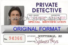 novelty id, novelty id card, driver license novelty PRIVATE DETECTIVE  card, new identity software design custom