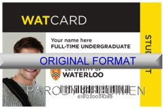 WATERLOO UNIVERSITY, DRIVER LICENSE ORIGINAL FORMAT, DESIGN SPECIFICATIONS, NOVELTY SECURITY CARD PROFILES, IDENTITY, NEW SOFTWARE ID SOFTWARE